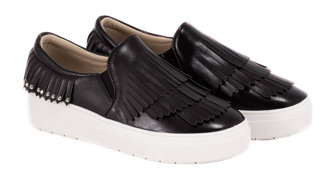 Espadrile negre de dama F01N