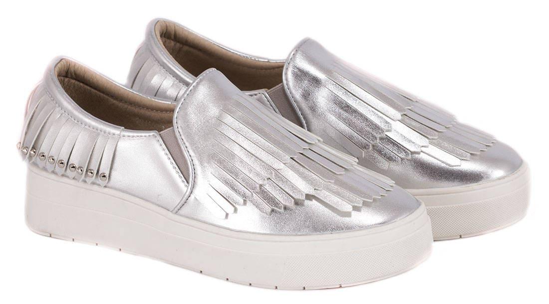 Espadrile silver de dama F01S