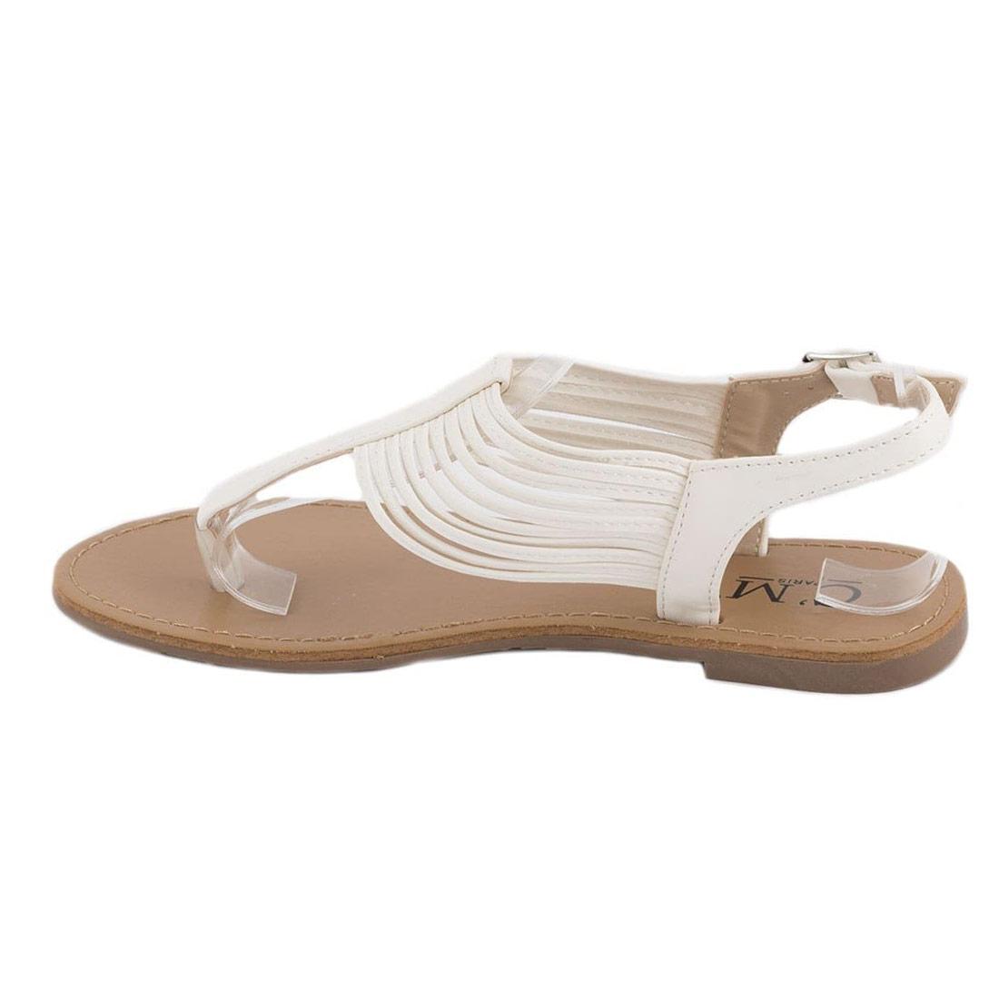 Sandale dama comode albe 8839-85A