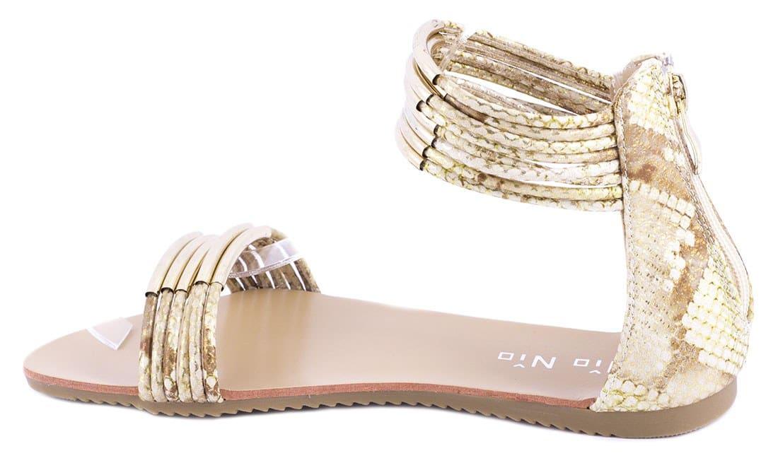 Sandale de dama cu accesoriu auriu 99-208GOLD