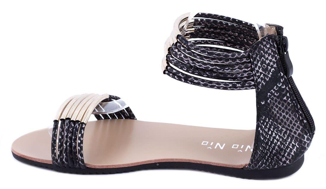 Sandale de dama cu accesoriu auriu 99-208N
