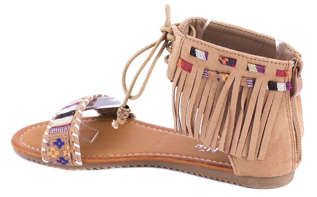 Sandale dama cu franjuri QQ61C