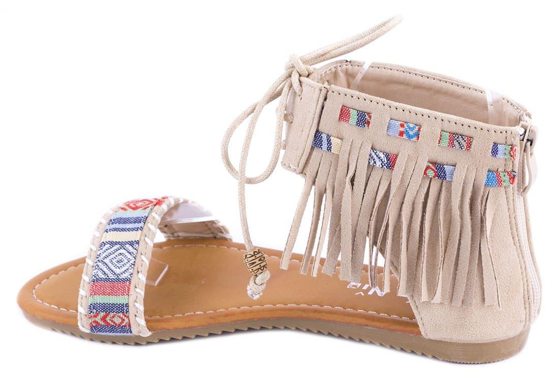 Sandale dama cu franjuri QQ61B