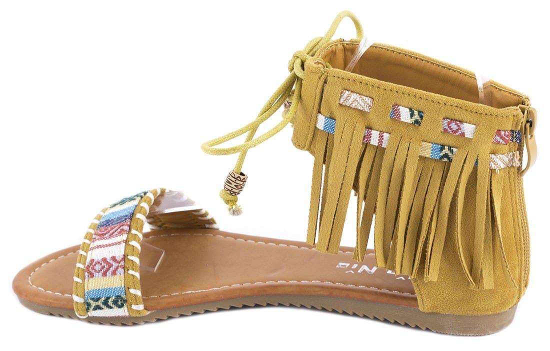 Sandale dama cu franjuri QQ61G