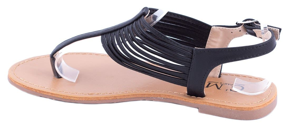 Sandale dama comode negre 8839-85N