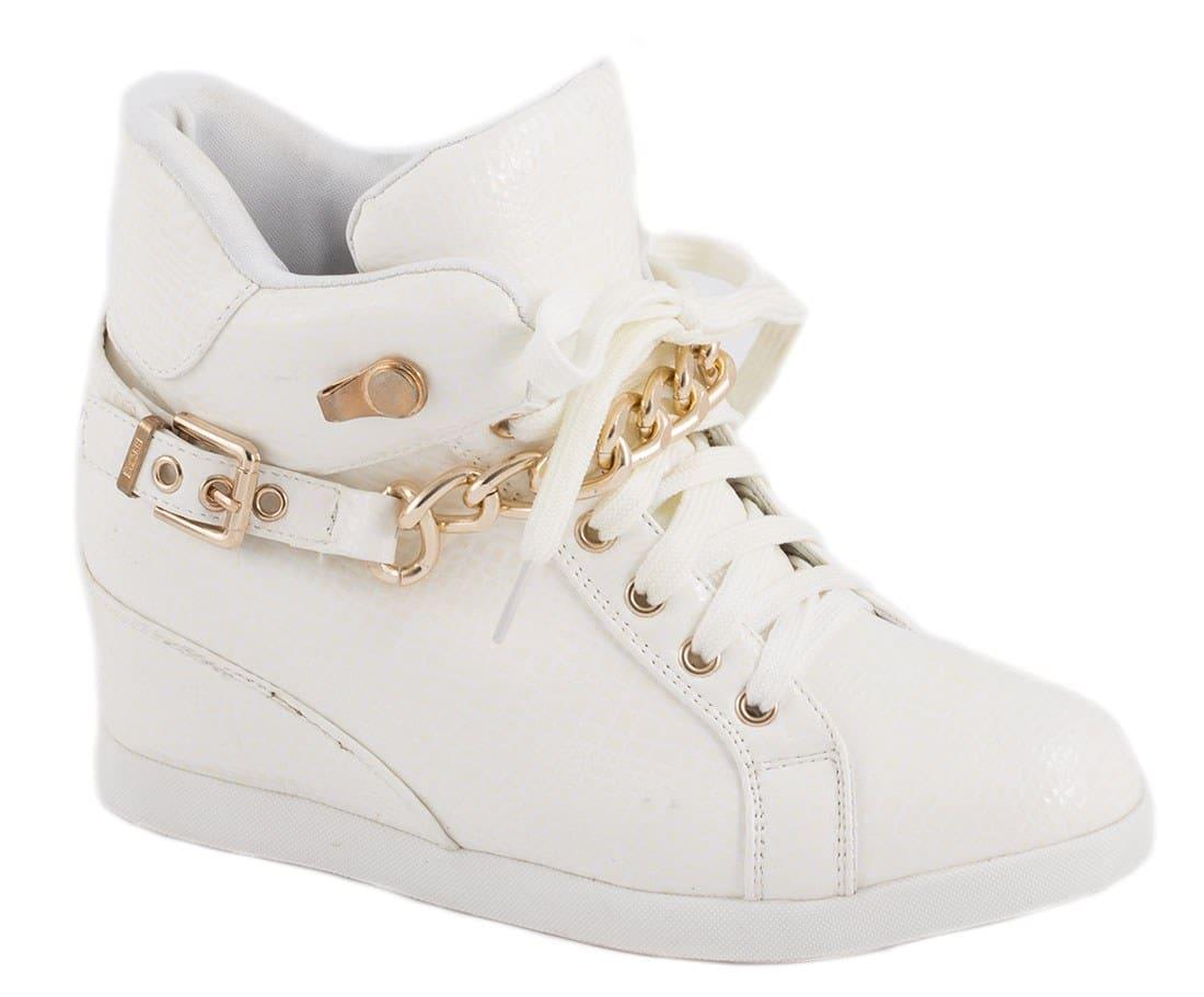 Sneakers dama cu accesoriu auriu 8086-7A