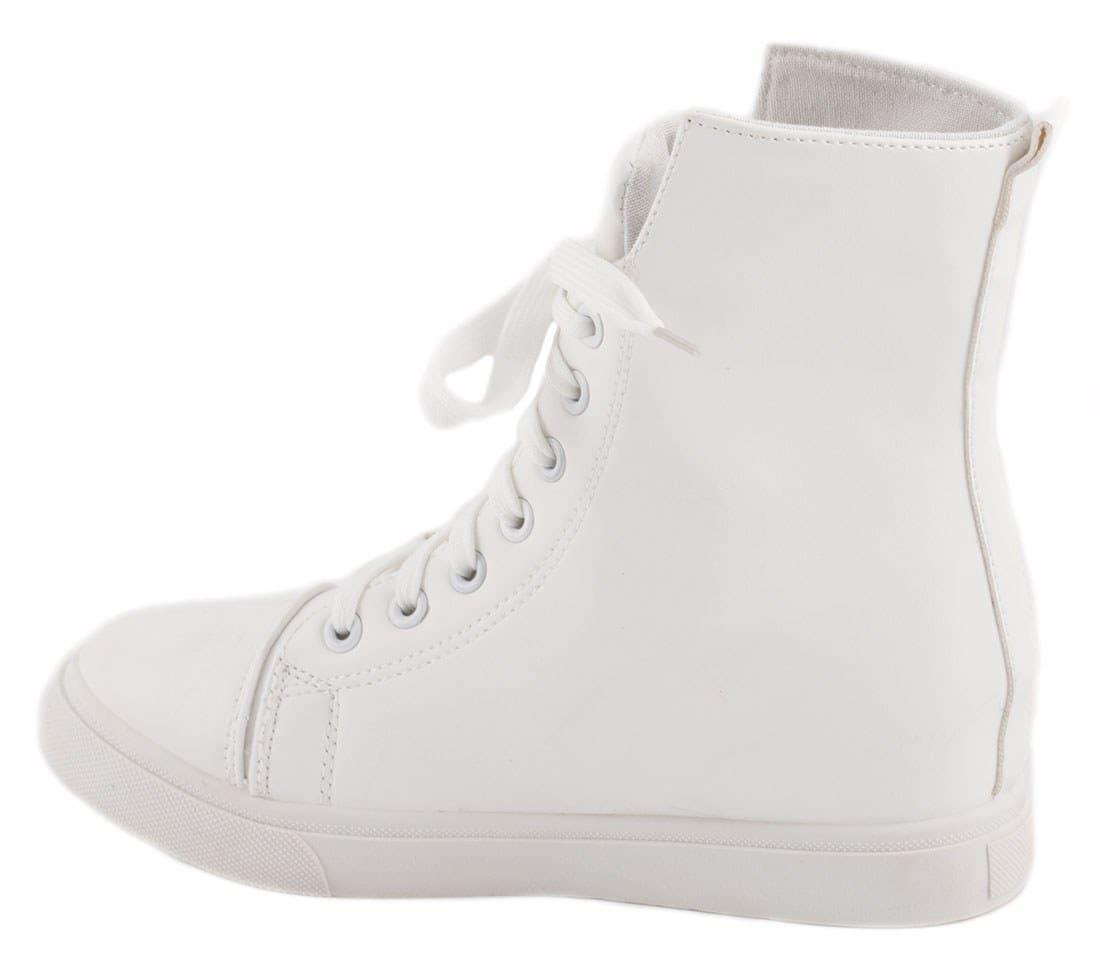 Sneakers dama cu siret albi Y217A