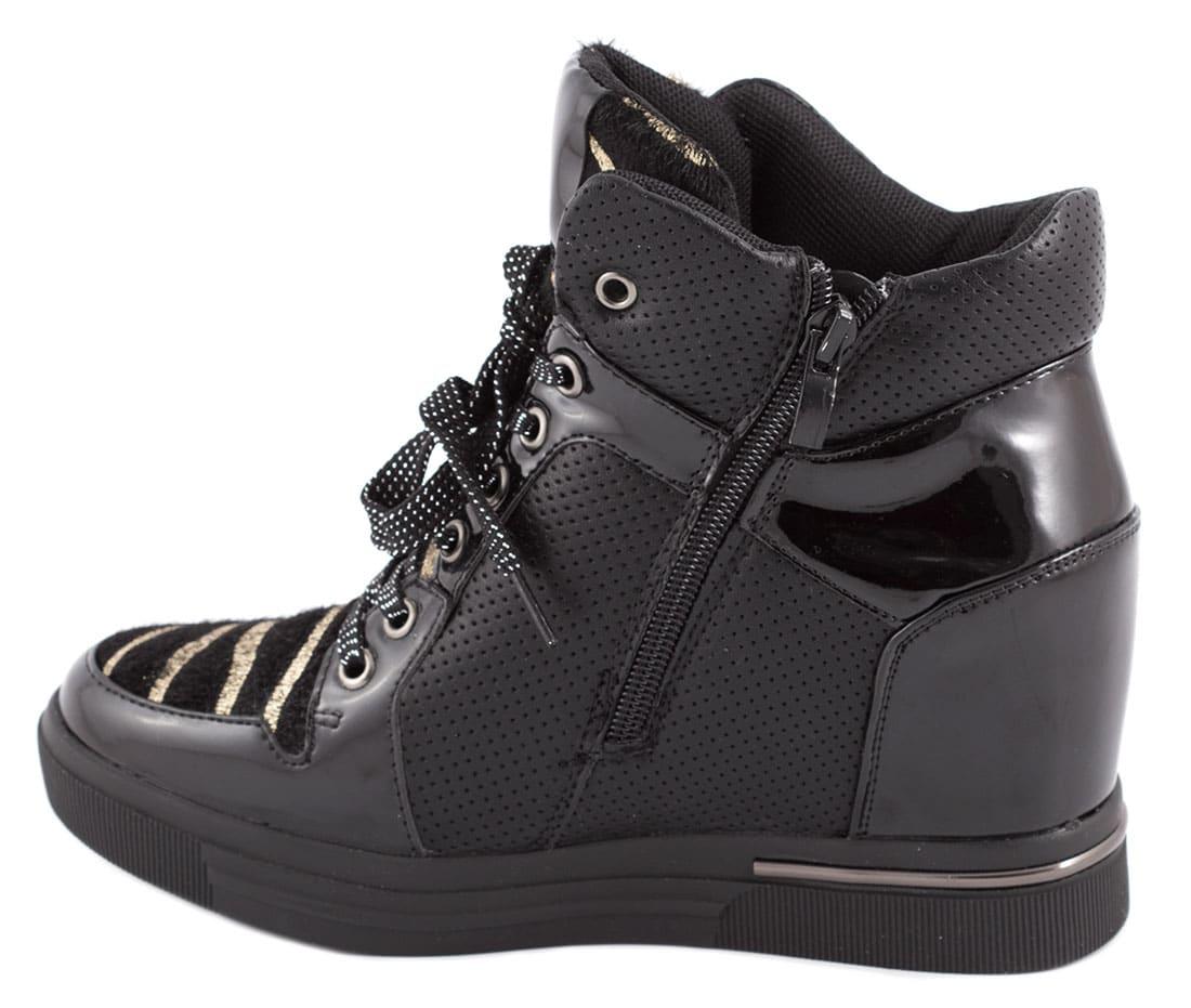 Sneakers de dama cu siret si fermoar DX619-2N
