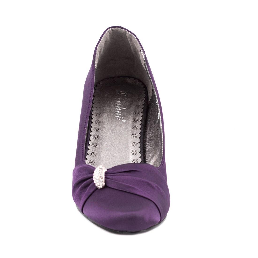 Pantofi dama cu toc A585PURPLE