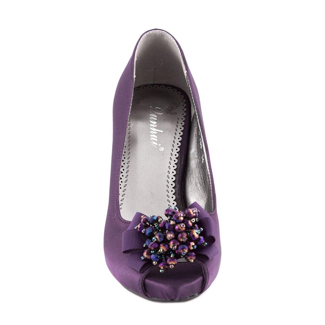 Pantofi de dama cu toc A788PURPLE