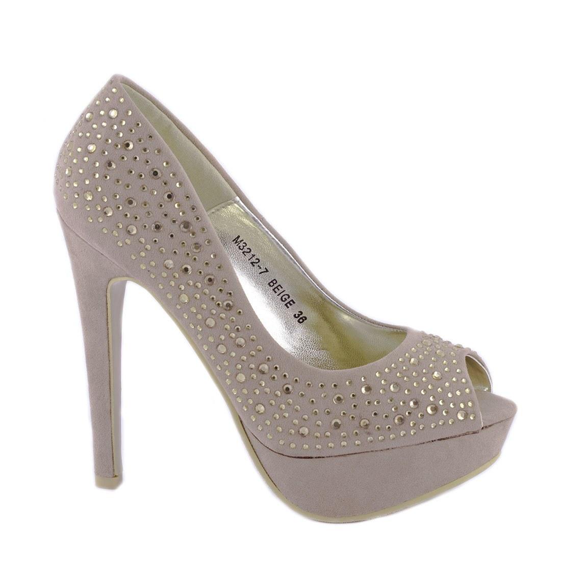 Pantofi dama cu platforma M3212-7BEJ