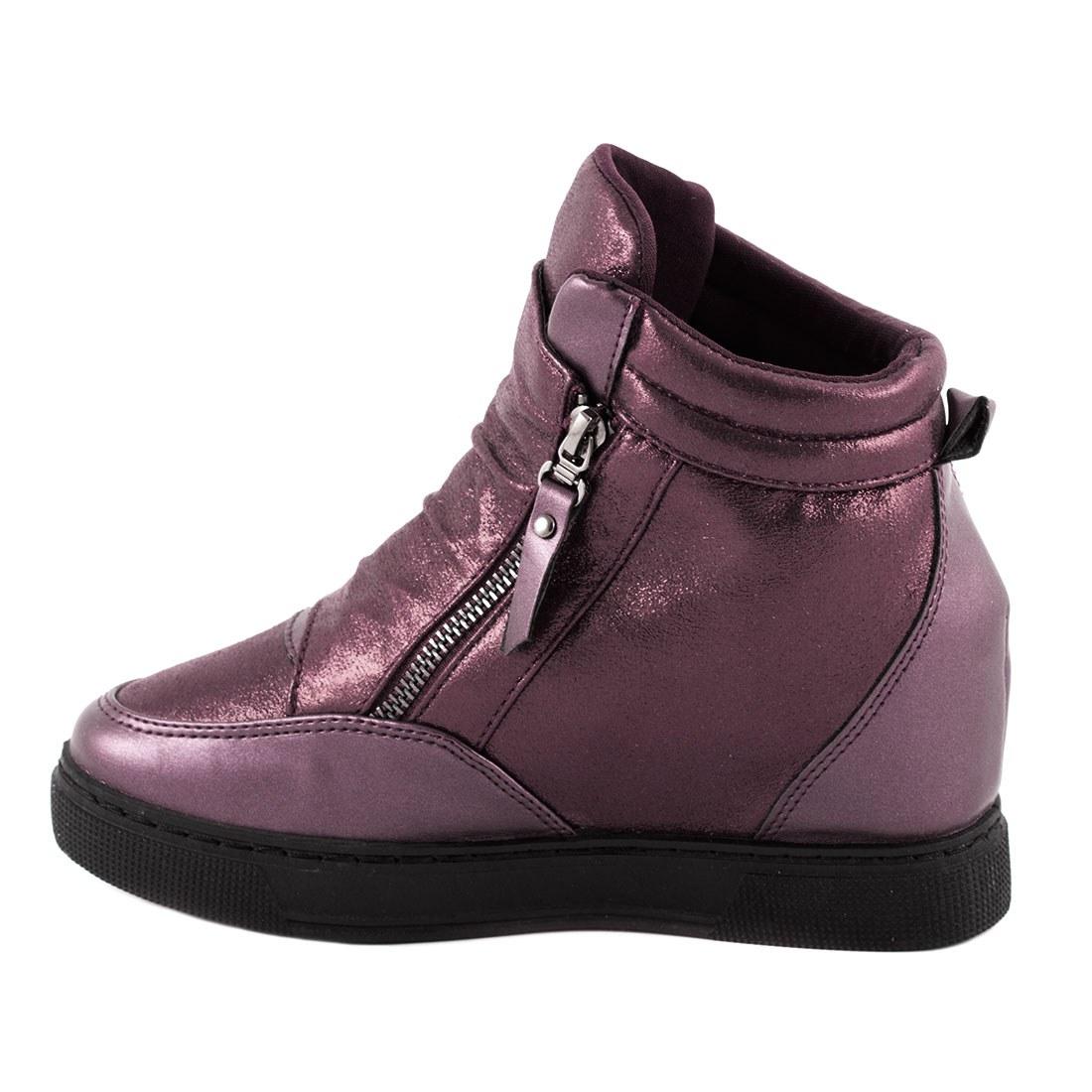 Sneakers cu talpa ortopedica HL61061-WINE