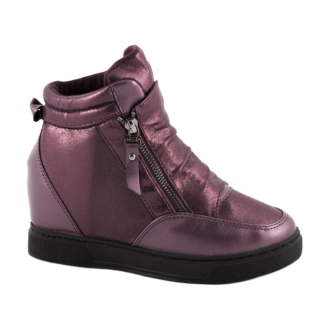 Sneakers cu talpa ortopedica HL61061-WINE