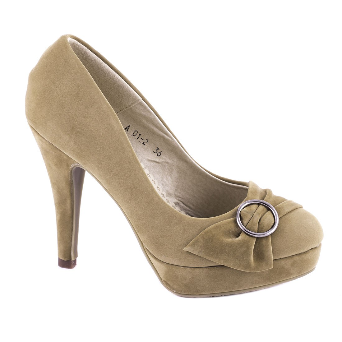Pantofi de dama comozi A01-2-KAKI