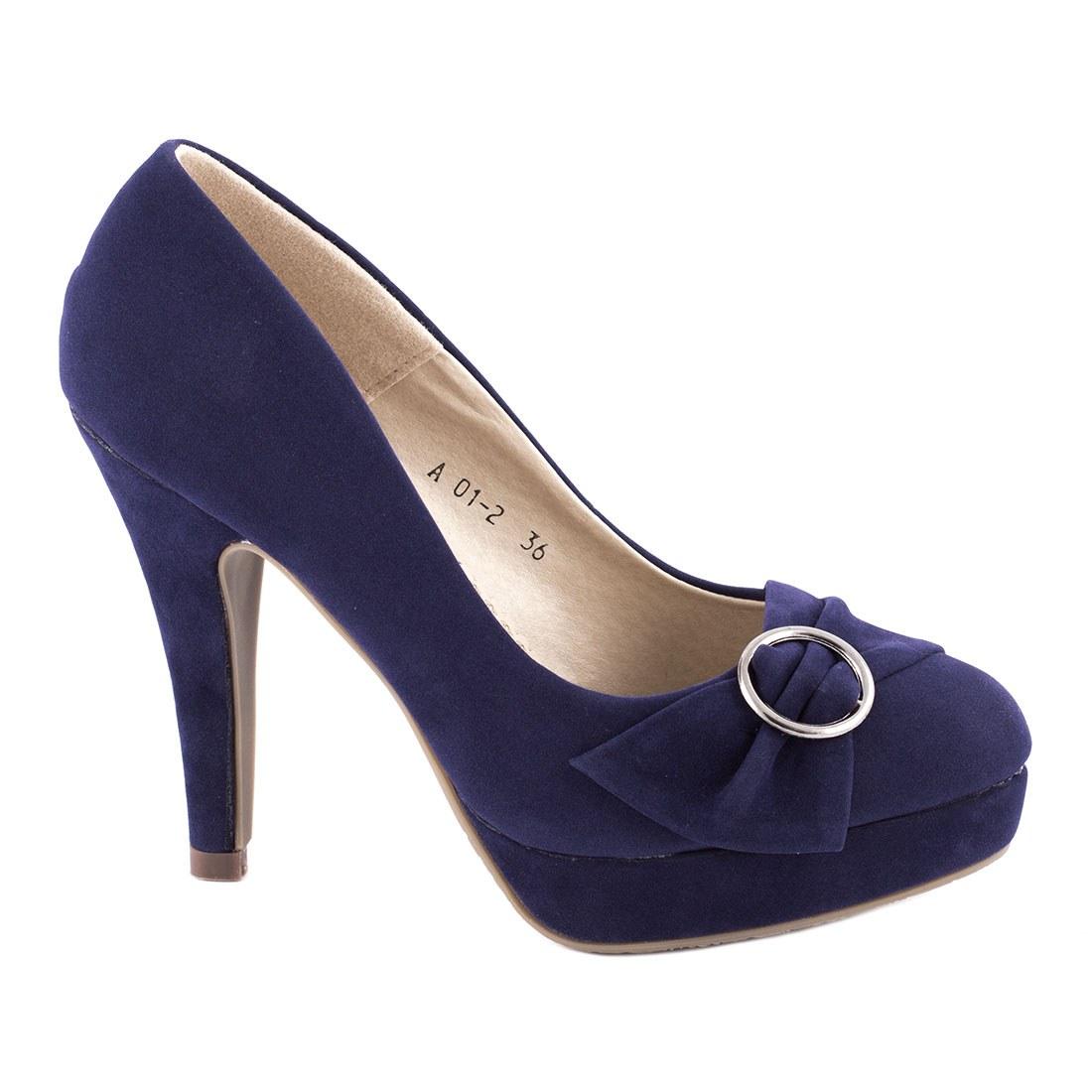 Pantofi de dama comozi A01-2-BLUE