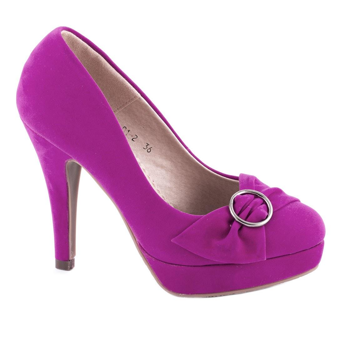 Pantofi de dama comozi A01-2-FUCSIA