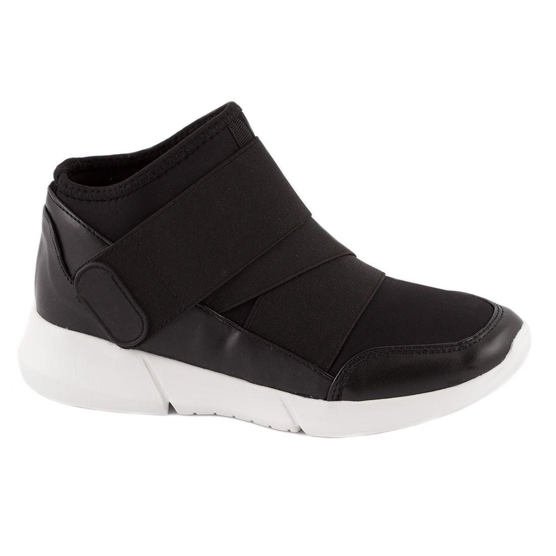 Sneakers de dama cu arici 107-8-NEGRU