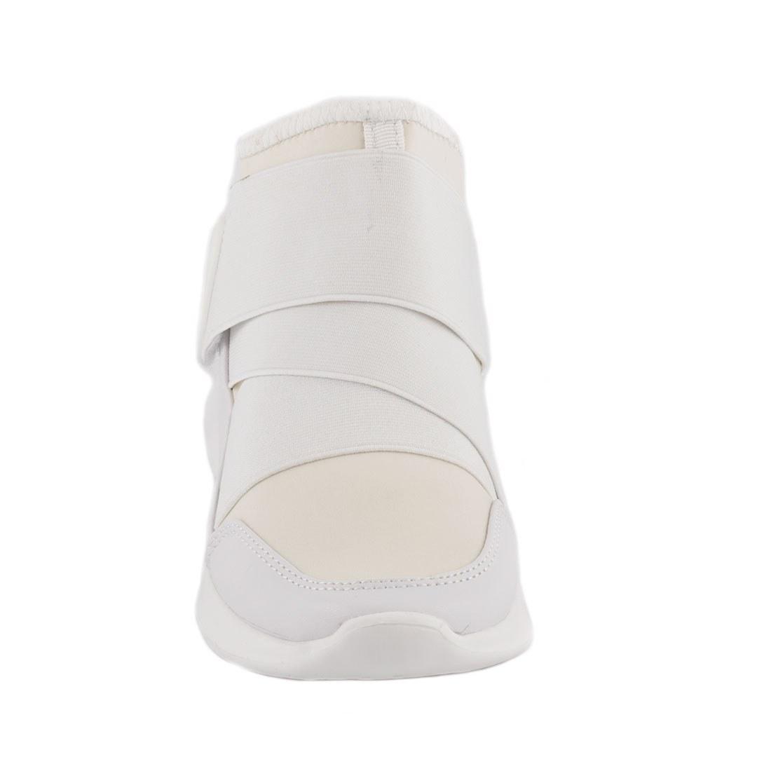 Sneakers de dama cu arici 107-8-ALB