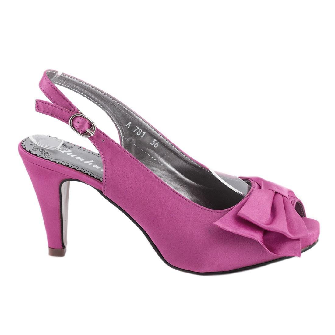 Sandale de dama cu toc A781FUCSIA