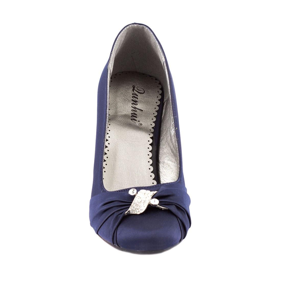 Pantofi dama cu toc A07168-7NAVY