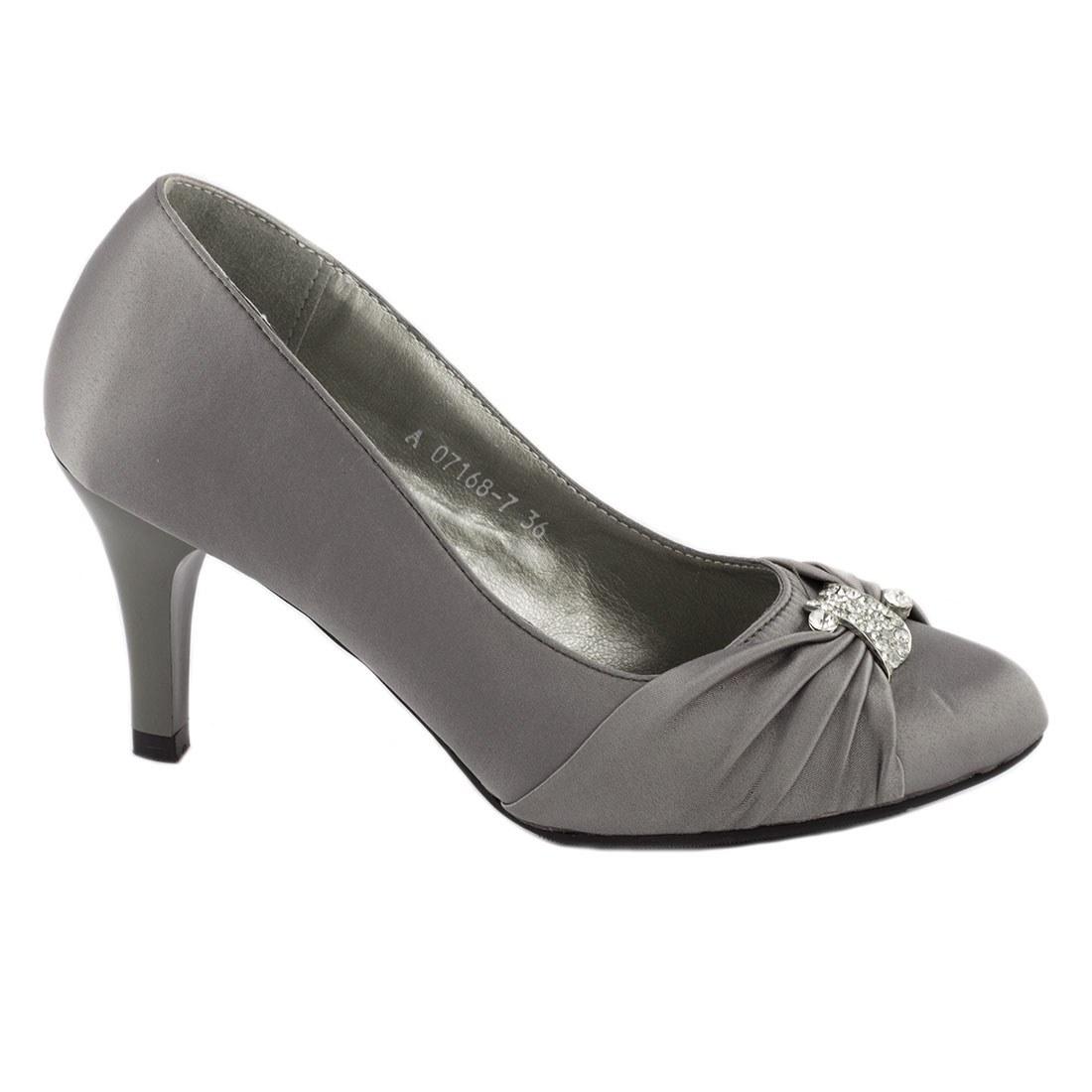 Pantofi dama cu toc A07168-7GRI