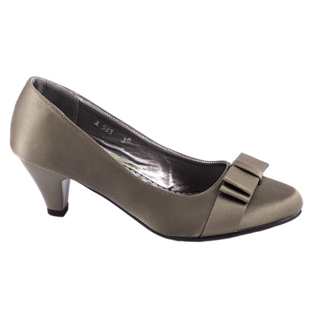 Pantofi de dama cu toc A583KAKI