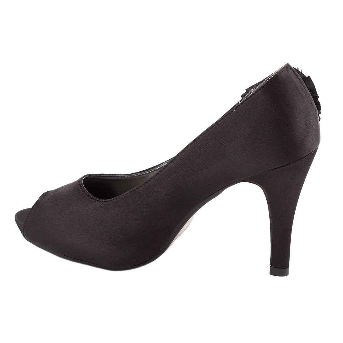 Pantofi de dama satin A2311NEGRU