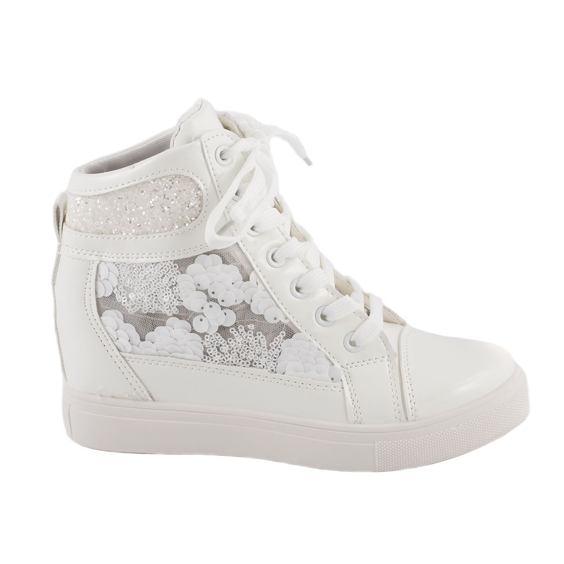 Sneakers de dama cu siret 5308-ALB