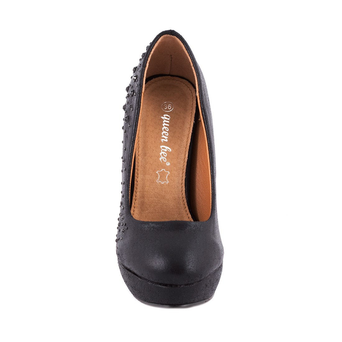 Pantofi de dama cu platforma K858-1NEGRU