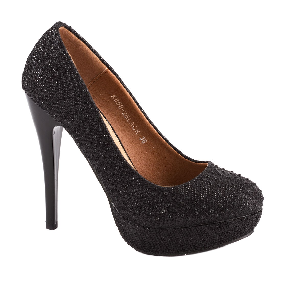 Pantofi dama cu strasuri K858-2NEGRU