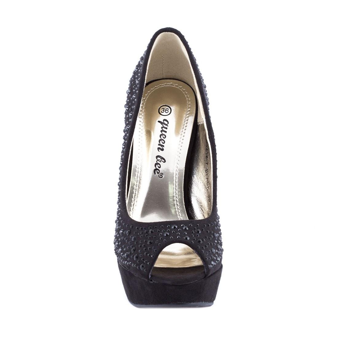Pantofi dama cu platforma M3212-7NEGRU