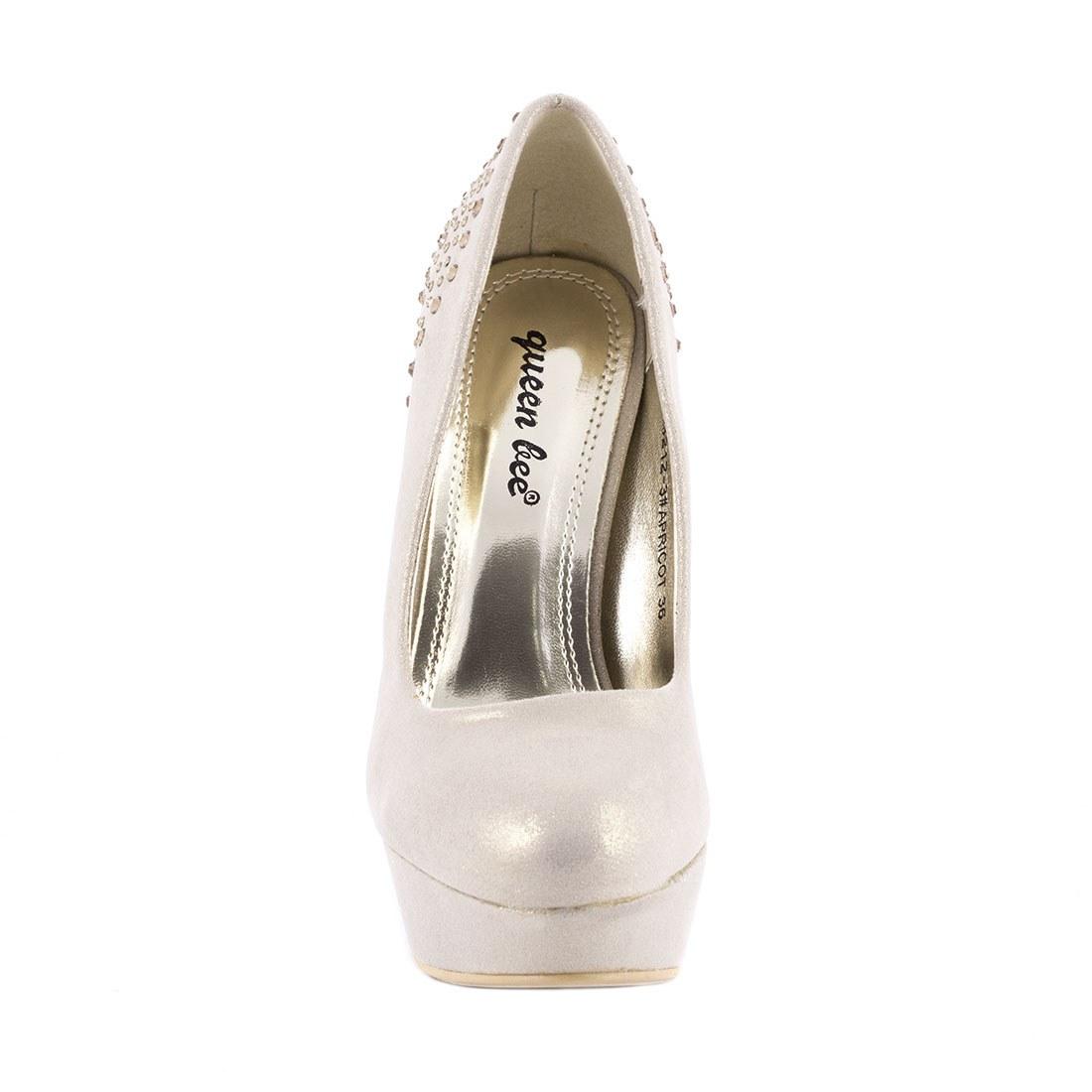 Pantofi dama cu toc M3212-3APRICOT