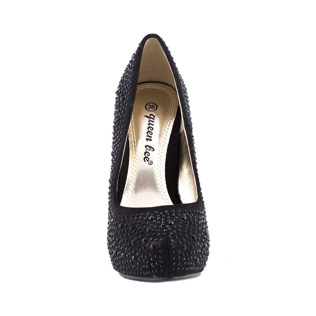 Pantofi dama cu strasuri M3212-4NEGRU
