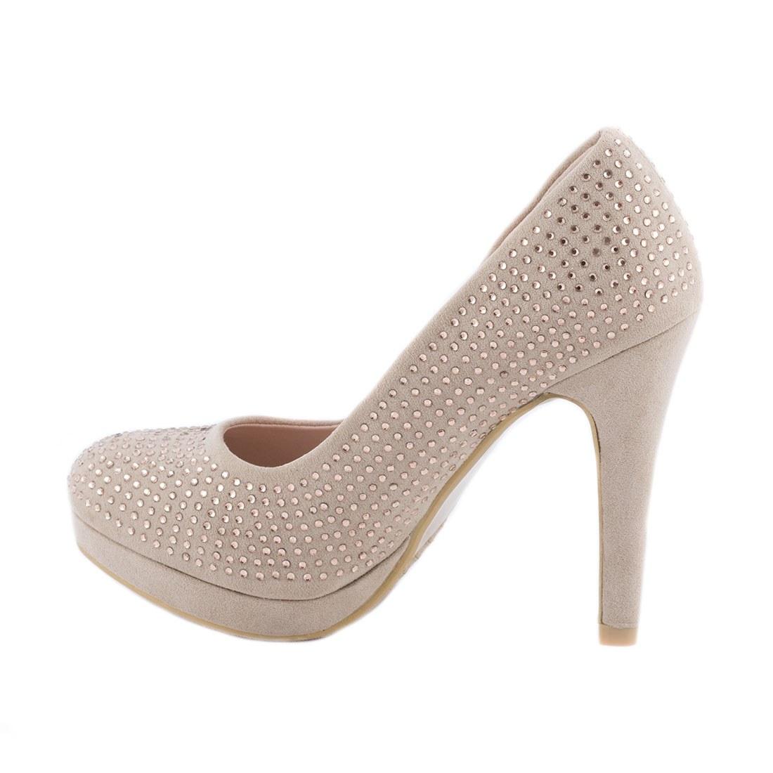 Pantofi dama cu strasuri M3212-8CHAMPAGNE