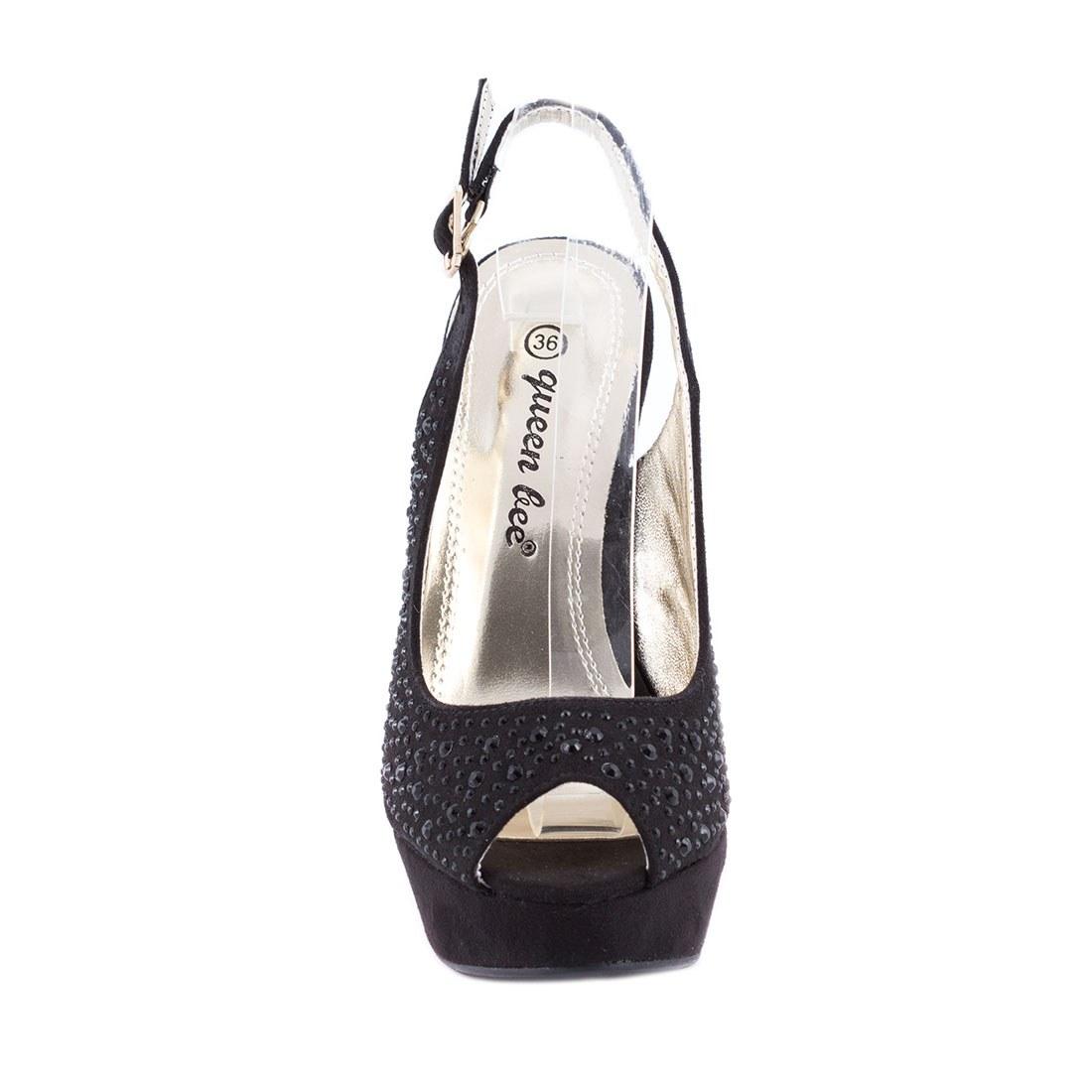 Sandale de dama cu platforma M3212-9-NEGRU