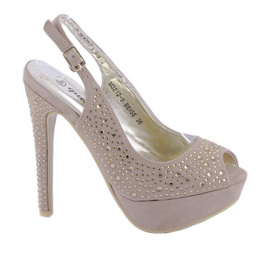 Sandale dama cu platforma M3212-9-BEJ