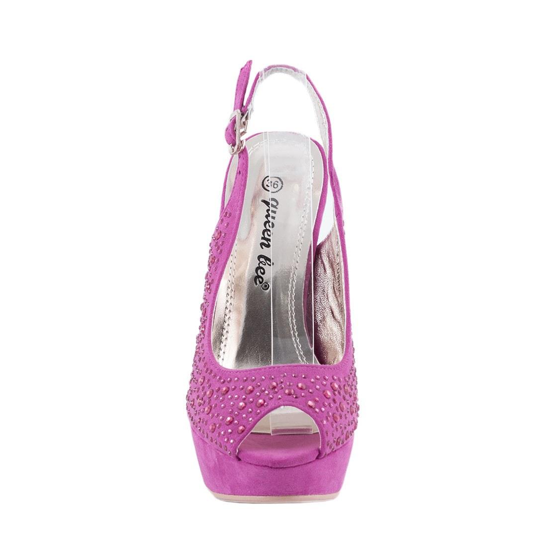Sandale de dama cu platforma M3212-9-FUCSIA