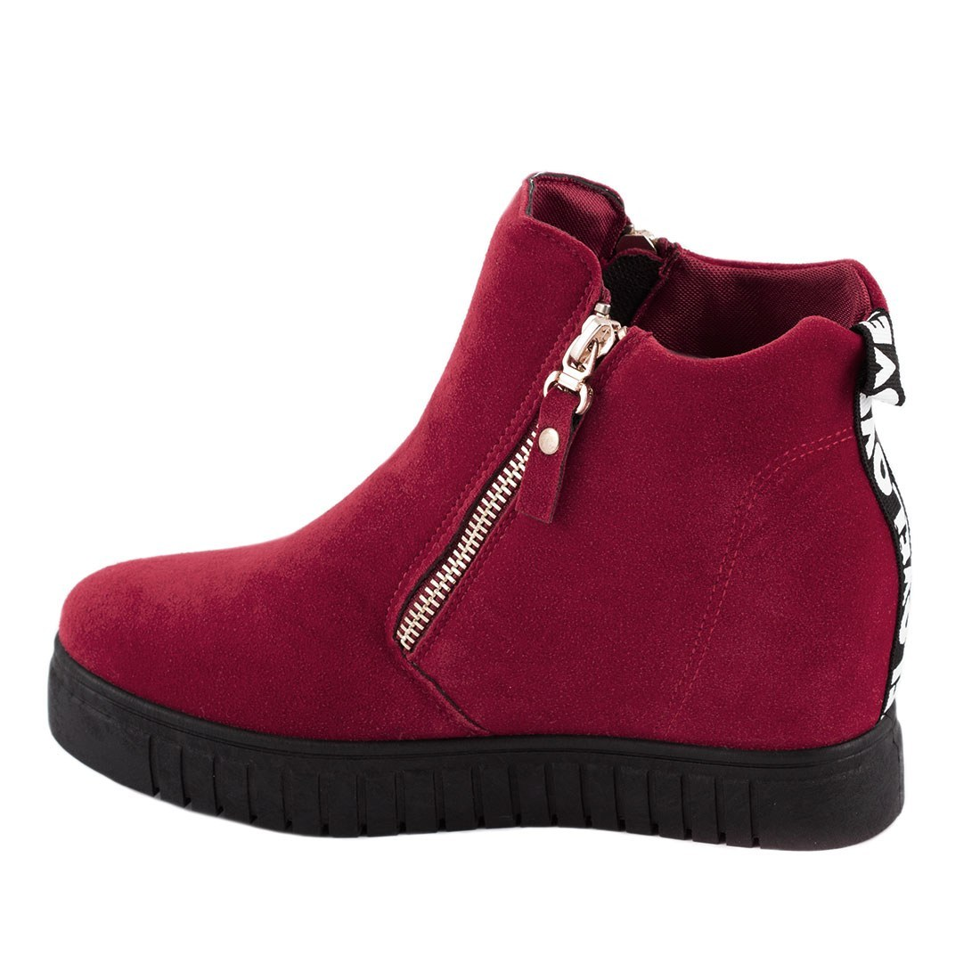 Sneakers de dama cu talpa ortopedica AN8227-RED