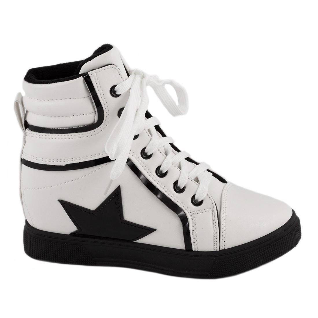 Sneakers dama cu siret  AN3972-ALB