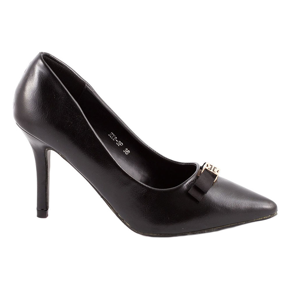 Pantofi dama cu toc RX8-3P-NEGRU