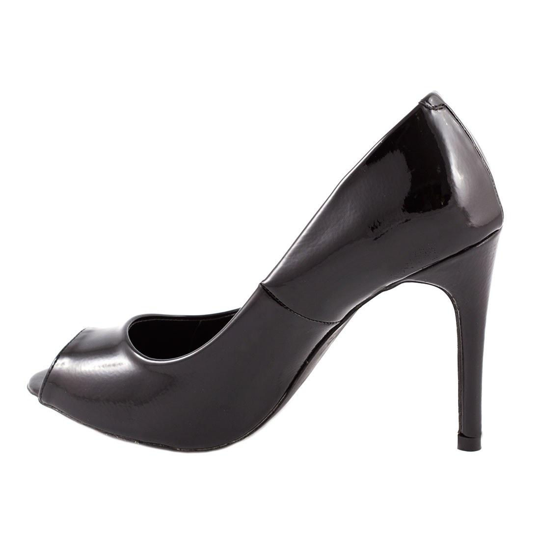 Pantofi de dama cu toc AF16227-NEGRU