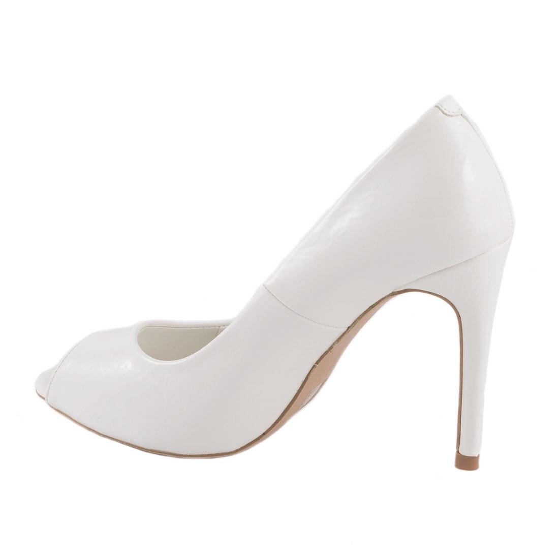 Pantofi de dama cu toc AF16227-ALB