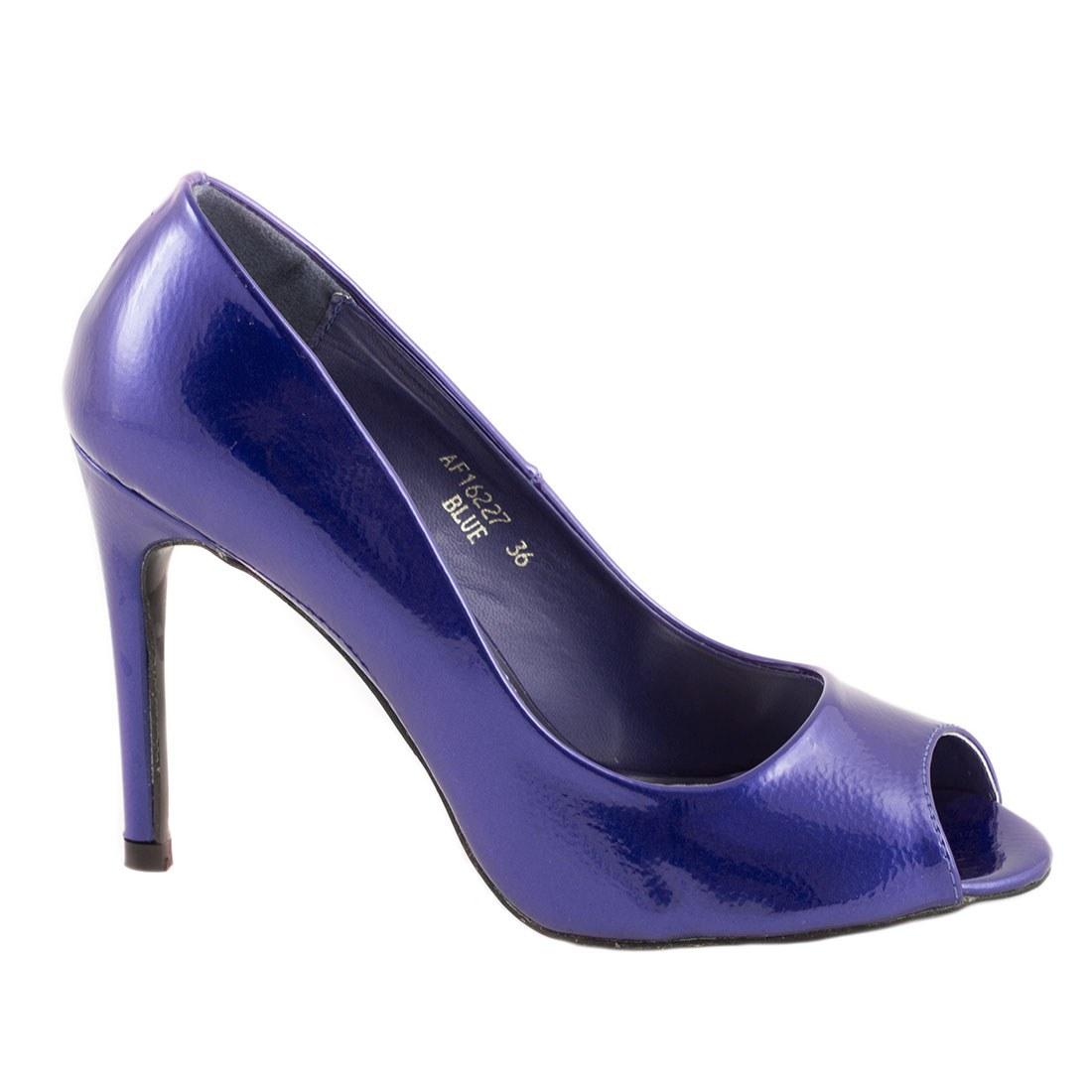 Pantofi de dama cu toc AF16227-BLUE