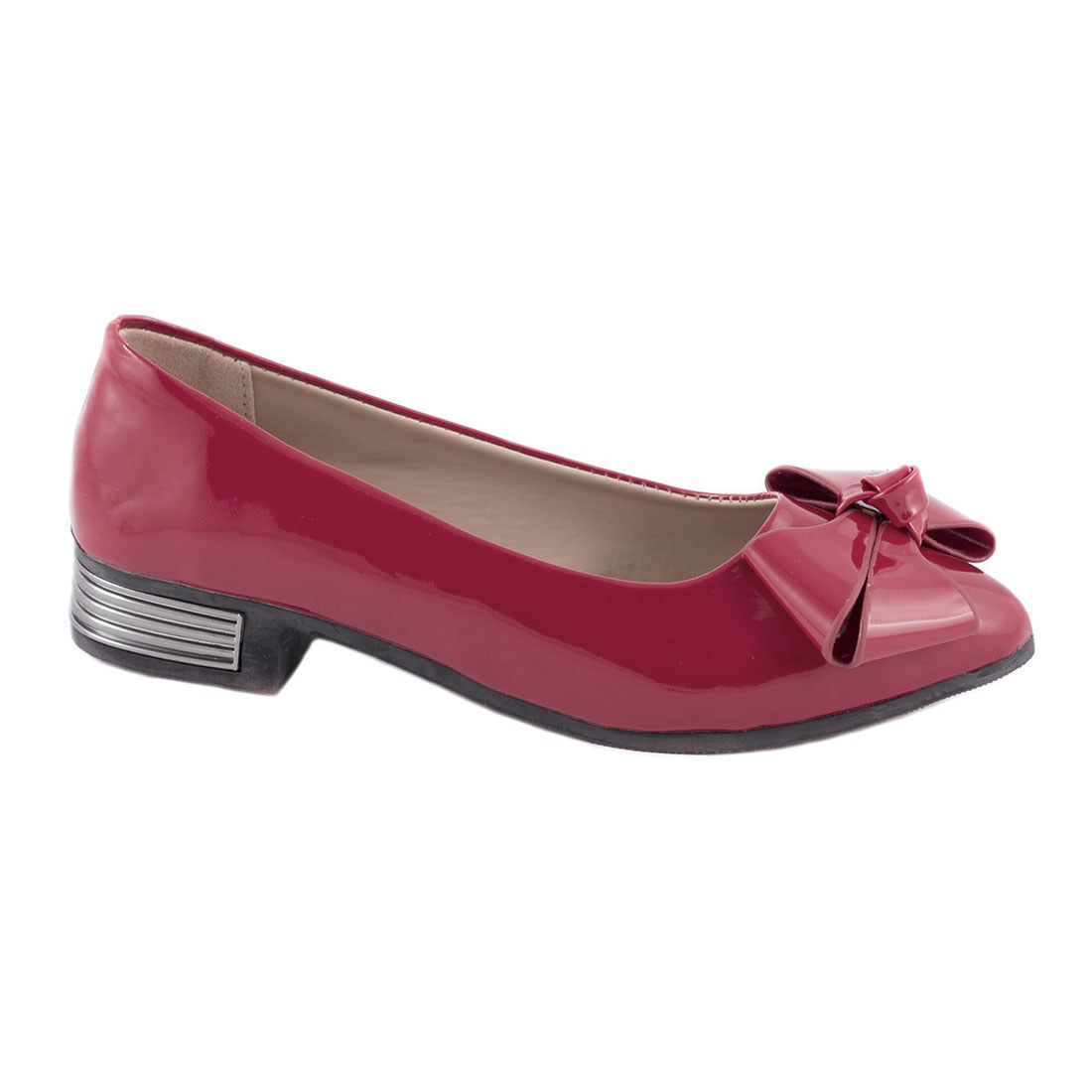 Pantofi dama cu fundita 536-ROSU
