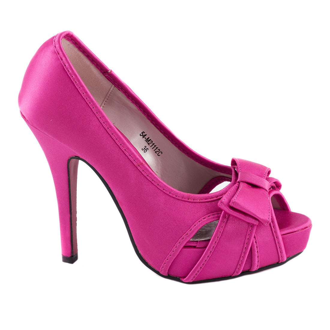 Pantofi de dama cu platforma 54-M21112C-FUCSIA