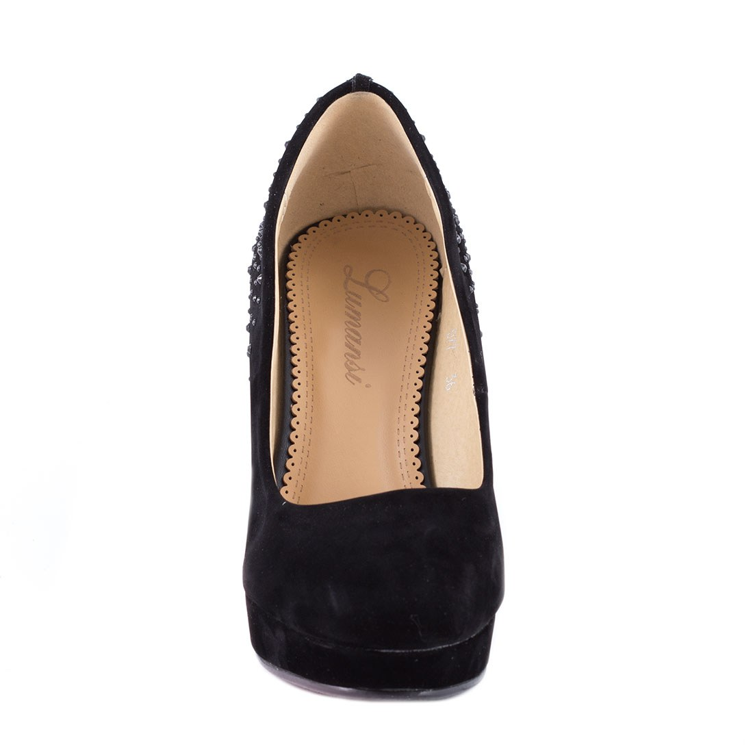 Pantofi dama cu platforma D77-NEGRU