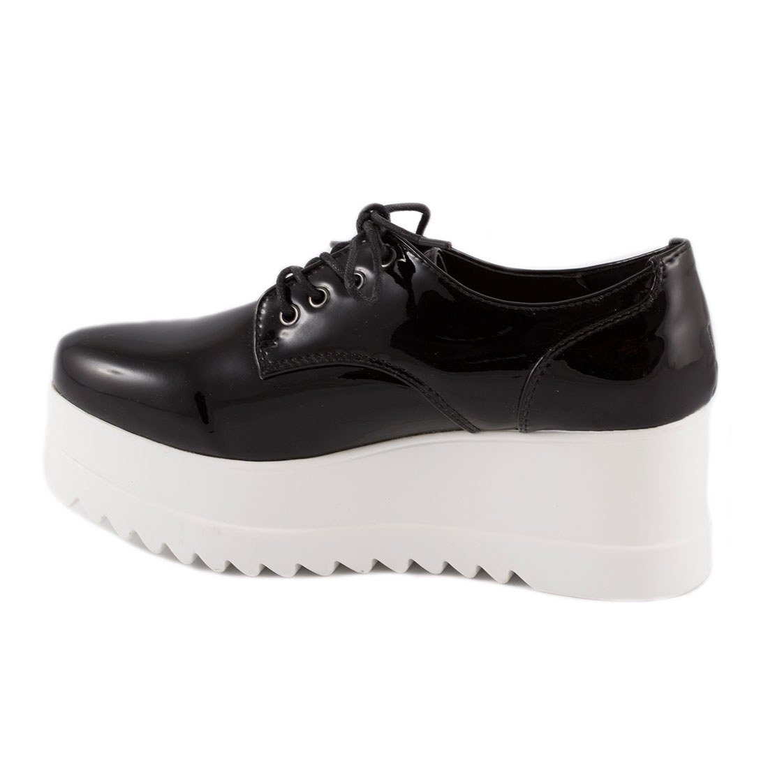 Sneakers dama cu platforma YT03-NEGRU