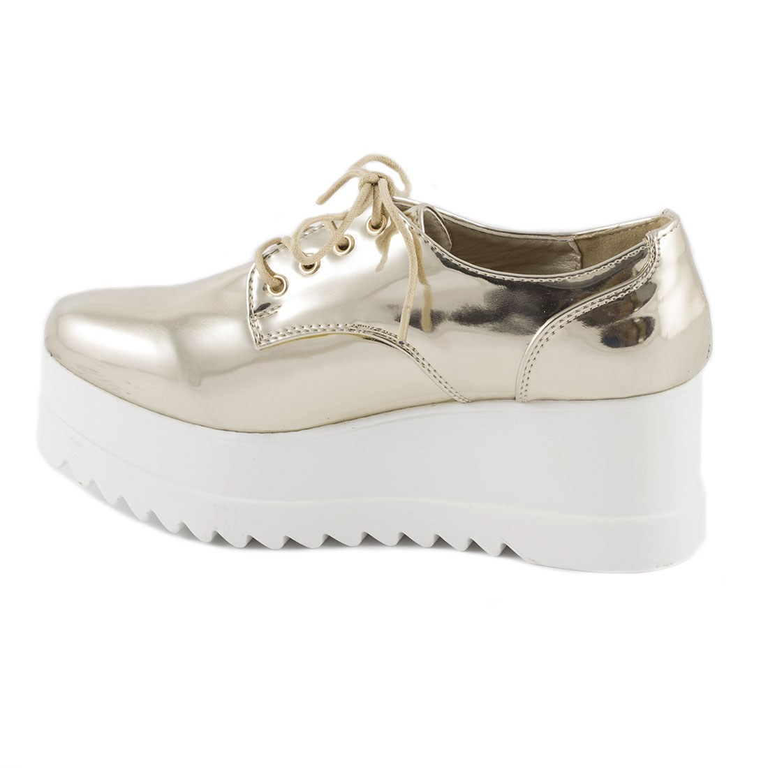 Sneakers dama cu platforma YT03-GOLD