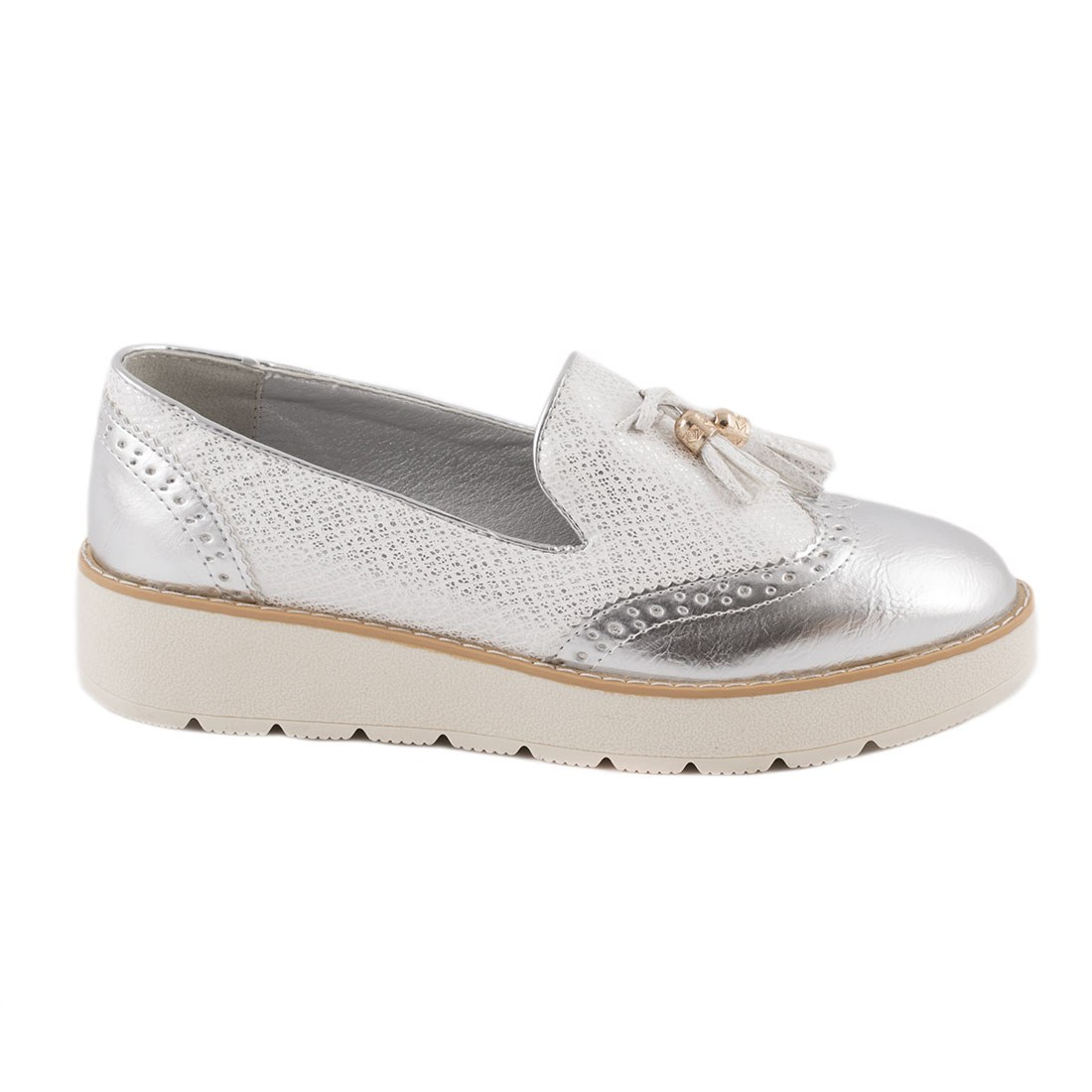 Pantofi dama comozi 7-8995-SILVER