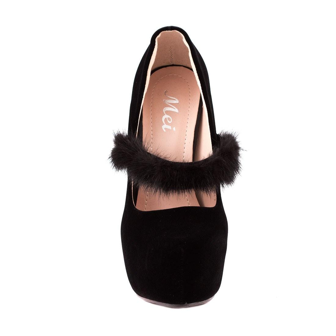 Pantofi de dama cu platforma HLX1601-NEGRU